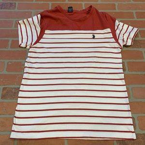 U.S. Polo Assn Mens Striped Short Sleeve Tee Shirt